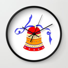 Red Bell Wall Clock