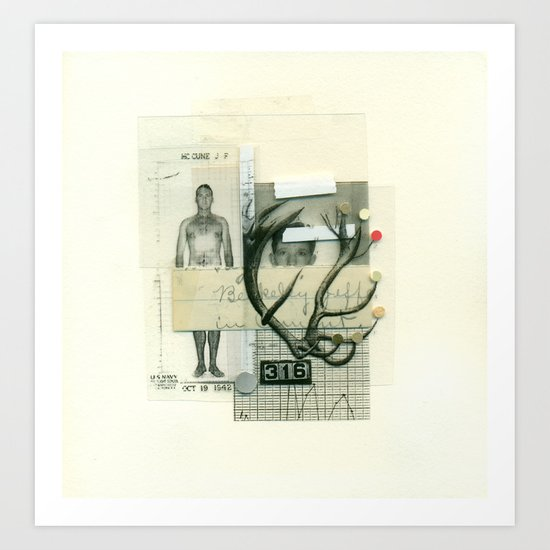 16 Point Buck Art Print