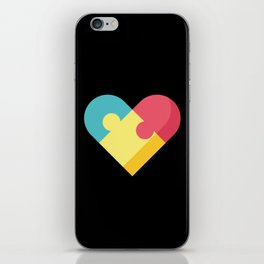 Autism Awareness Colorful Heart graphic Gift for Mom iPhone Skin