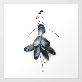 Edible Ensembles: Blue Mussels Art Print