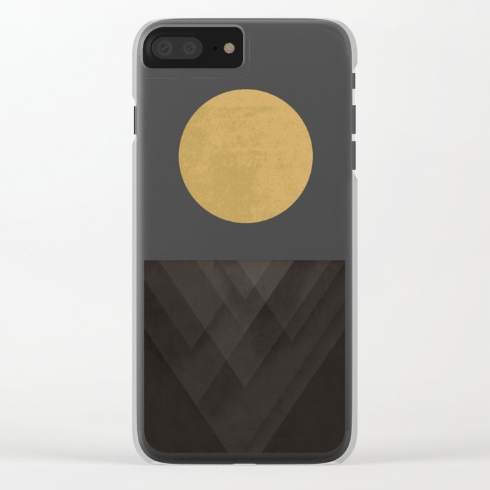 Moon Reflection on Quiet Ocean Clear iPhone Case