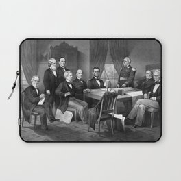 President Lincoln And His Cabinet, With Lieut. Genl. Scott Laptop Sleeve
