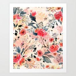 Evening Floral Garden Art Print