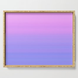 Pastel Pink Blue Stripes | Abstract gradient ombre pattern Serving Tray