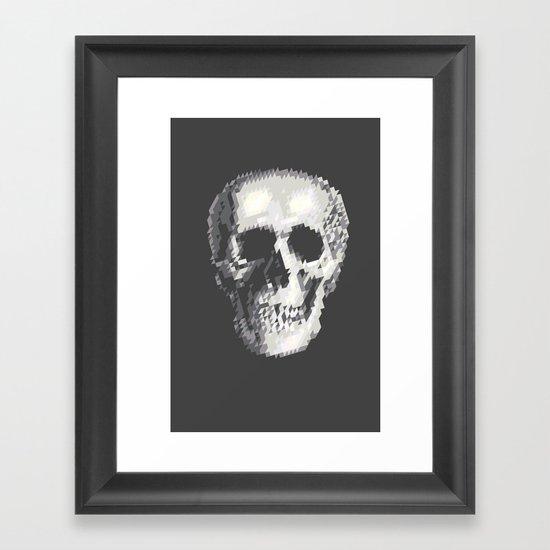 Tri Skull Framed Art Print