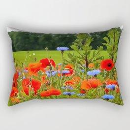 Poppies And Cornflowers Rectangular Pillow