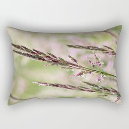Pink Grass Abstract Rectangular Pillow