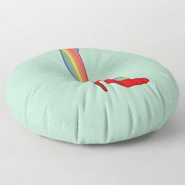 Rainbow Pride Stockings - Red Shoes Floor Pillow