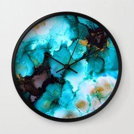 Turquoise Borealis Wall Clock
