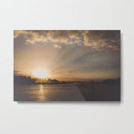 Sunshine Coast Sunset Metal Print