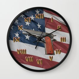 1911 Bullet Clock with Flag Wall Clock