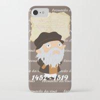 da vinci iPhone & iPod Cases featuring Leonardo da Vinci by Alapapaju