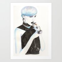 cigarette Art Prints featuring Cigarette by Alessandra Castagnolo