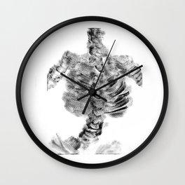 Monoprint Skeleton Wall Clock