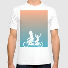 Before They Were Our Enemies, They Were Our Best Friends MEDIUM White Mens Fitted Tee