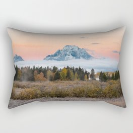 Autumn Sunrise in the Tetons Rectangular Pillow