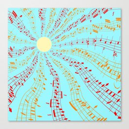 Music Brightens the World Canvas Print