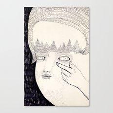 Lente de contacto Canvas Print