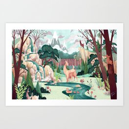 Deer Mother Art Print