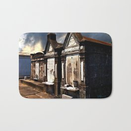 Lafayette Cemetery - Graves Before a Storm Bath Mat