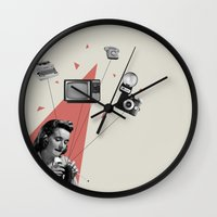 knitting Wall Clocks featuring Knitting by Andrea Eedes