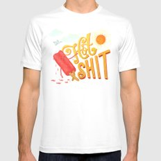Hot Shit Mens Fitted Tee White MEDIUM
