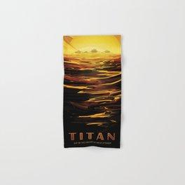 NASA Retro Space Travel Poster #12 - Titan Hand & Bath Towel