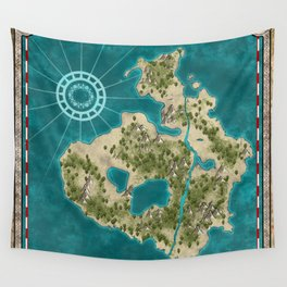Pirate Adventure Map Wall Tapestry