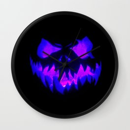 Blue Demon Nightmare Wall Clock