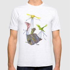 Fly Away Home Ash Grey SMALL Mens Fitted Tee