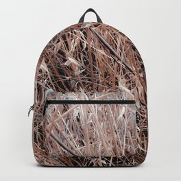 brown dry grass field texture abstract background Backpack