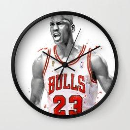 Mi-chael Jordan Chicago poster, Basketball print, Sports wall art, Kids room decor, Man Cave, Gift PNG Wall Clock