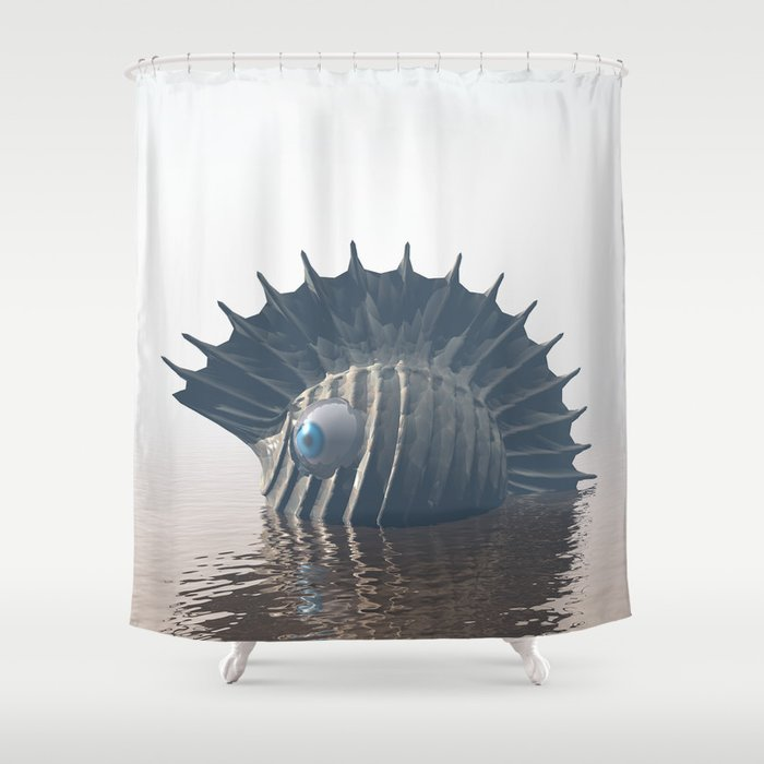 Sea Monsters Shower Curtain By Perkinsdesigns