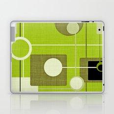 orbs and squares acid green Laptop & iPad Skin