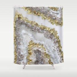 Geode Art Shower Curtain