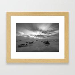 Crystal Cove Black & White Framed Art Print