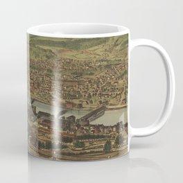 Vintage Pictorial Map of New Brighton PA (1883) Coffee Mug