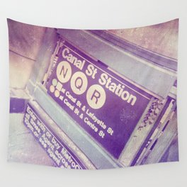 Canal St Subway New York City Wall Tapestry