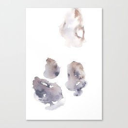 151124 Tri Abstract Watercolour 1 Canvas Print