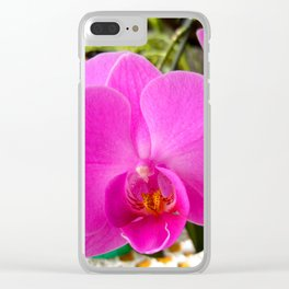 Purple orchid Clear iPhone Case