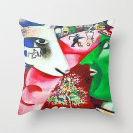 Marc Chagall Me and the Village Throw Pillow