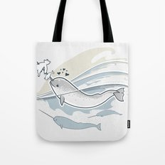 The Friendly Narwhal Tote Bag