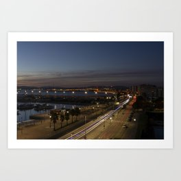 Gibraltar Nights  Art Print