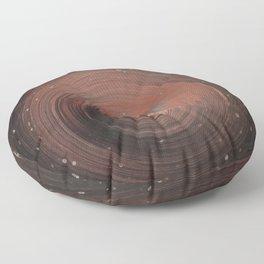 Copper Vortex Floor Pillow
