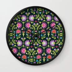 Folkloric 1 Wall Clock
