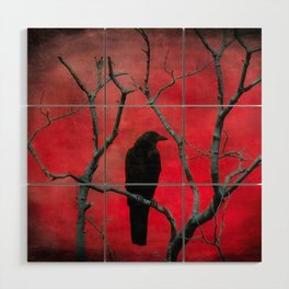 The Color Red Wood Wall Art
