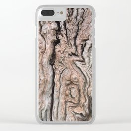 Dead Tree Trunk Texture v1 Clear iPhone Case