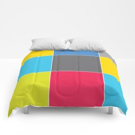 Colors and Squares Comforters