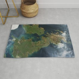 Nearly cloud-free view of Great Britain and Ireland was acquired by the Moderate Resolution Imaging Rug