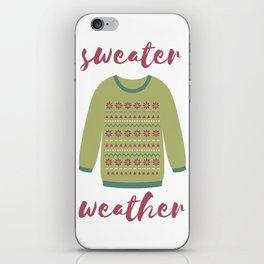 Sweater Weather iPhone Skin